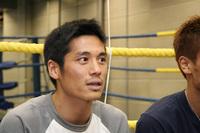 インタビューに答える小野寺選手